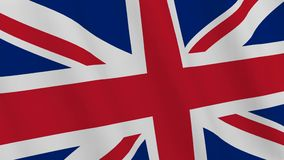 UK flag. 3D rendering. Background - UK flag. United Kingdom flag waving in the wind. Loopable. 3D rendering stock video