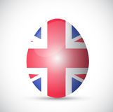 Uk flag egg illustration design Stock Images