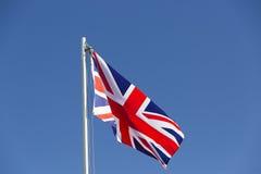 UK flag on a flagpole Stock Photo