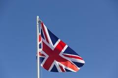 UK flag on a flagpole Stock Photos