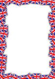 UK flag frame. Flags of the United Kingdom forming a frame Stock Photography