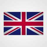 UK flag on a gray background. Vector illustration Stock Photography