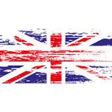 UK flag with grunge on a white background. Vector illustration Stock Images