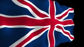 UK Flag High Detail - Looping. HD animation stock footage