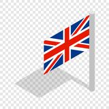 UK flag isometric icon. 3d on a transparent background vector illustration Royalty Free Stock Photography