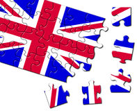 UK flag jigsaw Royalty Free Stock Images