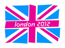 UK flag London 2012. United Kingdom flag the Union Jack with the colors of the Olympics Games London 212 royalty free illustration