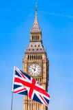UK Flag and London Sight Royalty Free Stock Photography