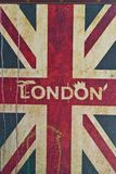 UK flag with london in th middle Royalty Free Stock Photos