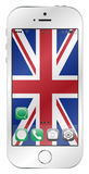 UK Flag Mobile Screen Stock Images