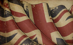 UK Flag Old Paper Background Stock Photos