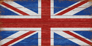 UK flag painted on old wooden planks background Royalty Free Stock Image