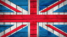 UK flag painted on wooden boards Royalty Free Stock Images