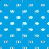 UK flag pattern seamless blue. UK flag pattern repeat seamless in blue color for any design. Vector geometric illustration Stock Photos