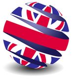 UK flag with peel effect Stock Photo