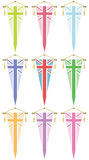 Uk flag pennants Stock Photography