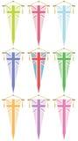 Uk flag pennants vector illustration