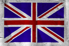 UK Flag on rough white paper Stock Image