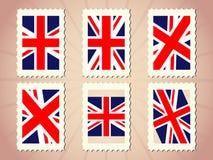 UK Flag Stamp Royalty Free Stock Photos