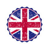 UK flag stamp with grunge. Vector illustration Stock Photos