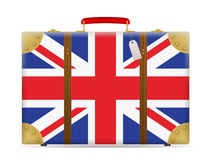 UK flag travel suitcase Stock Image