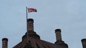 UK Flag waving stock video footage