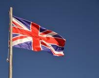 UK flag waving Stock Image