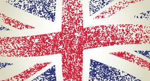 UK flag, wavy Royalty Free Stock Image