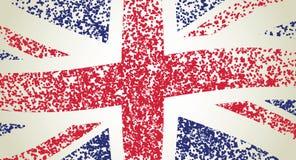 UK flag, wavy. Grunge illustration Royalty Free Stock Image