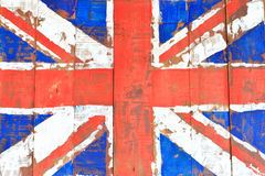 UK flag on wood wall Stock Images