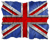 UK Flag on Wrinkled Paper with Nails Royalty Free Stock Photo