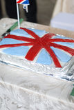 Uk-flaggacake royaltyfri bild
