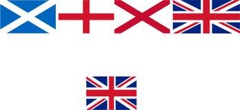 UK-flaggadanande av stock illustrationer