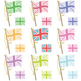 Uk flags Royalty Free Stock Images