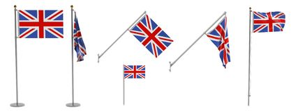 UK flags Stock Photo