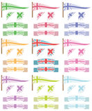 Uk flags and ribbons Stock Photography
