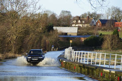 2014 UK Floods Bedfordshire Royalty Free Stock Photography