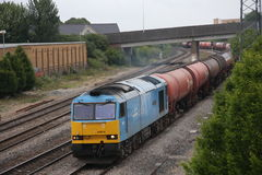 UK Freight Train Royalty Free Stock Image