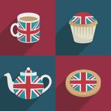 UK-garneringar royaltyfri illustrationer