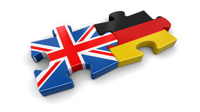 UK and Germany puzzle from flags Royalty Free Stock Photos