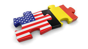 UK and Germany puzzle from flags Stock Image