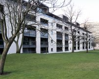 Cheltenham apartment block. UK, Gloucestershire, Cheltenham, modern style apartment block Stock Image