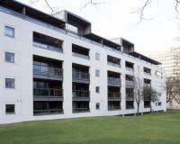 Cheltenham apartment block. UK, Gloucestershire, Cheltenham, modern style apartment block Royalty Free Stock Images