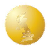 UK Gold Coin Stock Photo