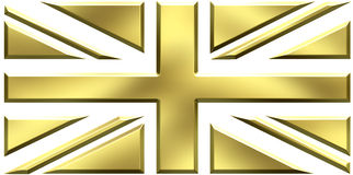 UK gold flag. UK flag made out of gold Stock Image