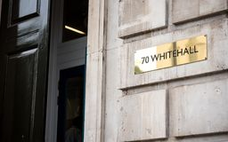 UK Government: 70 Whitehall, Cabinet Office Stock Image