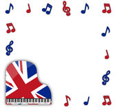 UK Grand Piano With Notes Royalty Free Stock Image