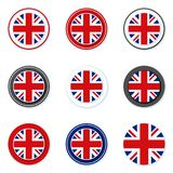 UK of Great Britain button label illustration Stock Photos