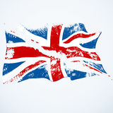UK grunge flying flag. Royalty Free Stock Image