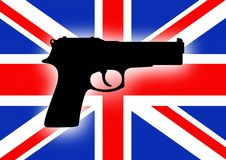 UK gun crime Royalty Free Stock Images